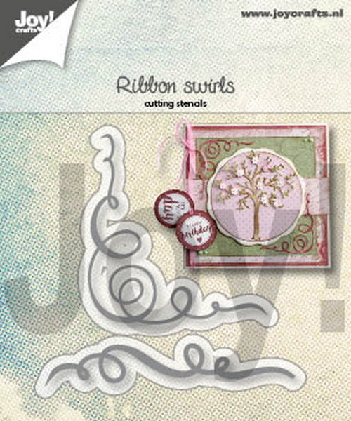 Joy! Crafts - Cutting & Embossing stencil - Lint / Swirls