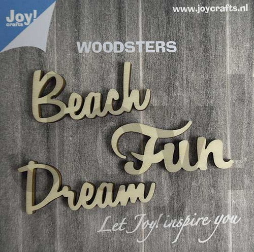 Joy! Crafts - Woorden hout - Dream - Beach - Fun