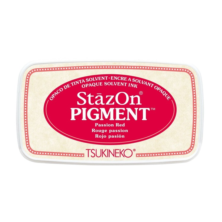 StazOn Pigment Inkt - Passion Red