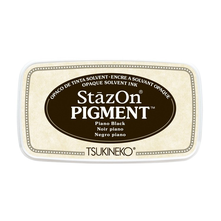StazOn Pigment Inkt - Piano Black