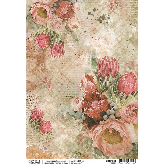 Ciao Bella - Rice Paper A4 - Protea