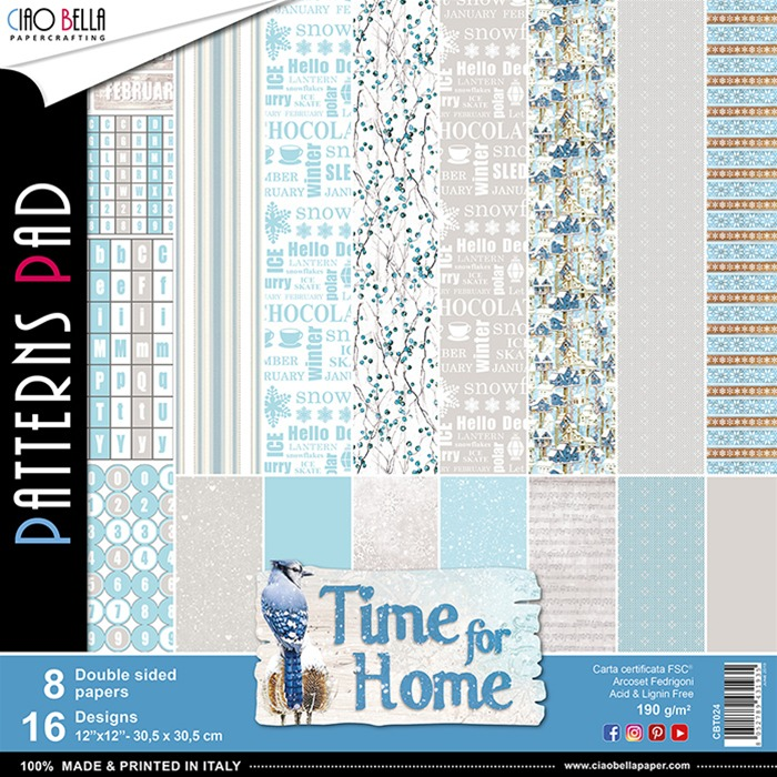 Ciao Bella - Paperpad 30,5 x 30,5 cm - Time for Home Patterns