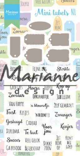 Marianne Design - Stamp & Die set - Mini labels (NL)