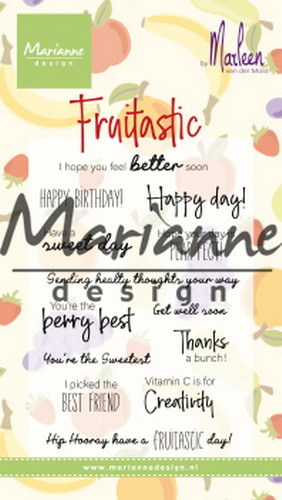 Marianne Design - Clearstamps - Marleen's Fruitastic