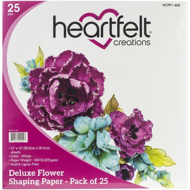 Heartfelt Creations - White Flower Shaping Paper - per vel