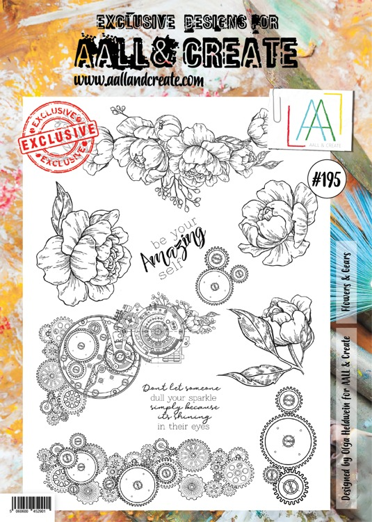 AALL & CREATE - Clearstamp A4 - number 195