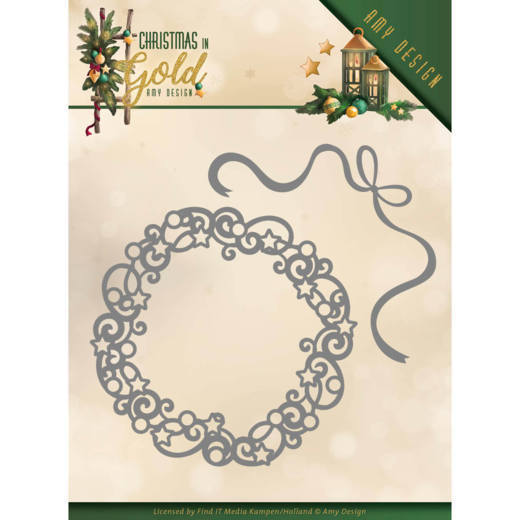 Stansmal Amy Design - Christmas in Gold - Christmas Wreath