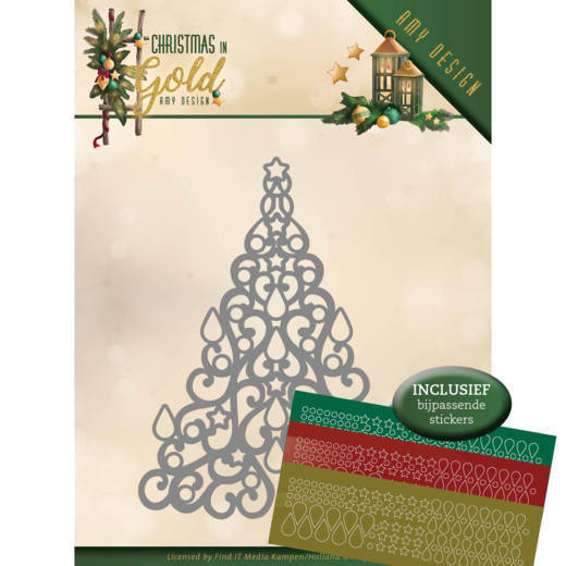 Stansmal Amy Design - Christmas in Gold - Christmas Tree Hobbydots