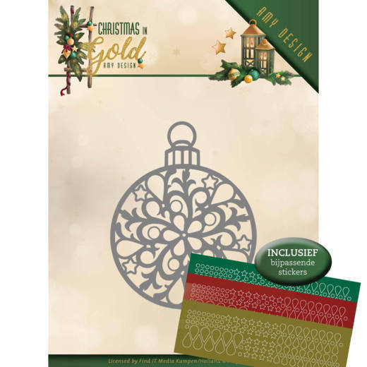 Stansmal Amy Design - Christmas in Gold - Christmas Bauble Hobbydots