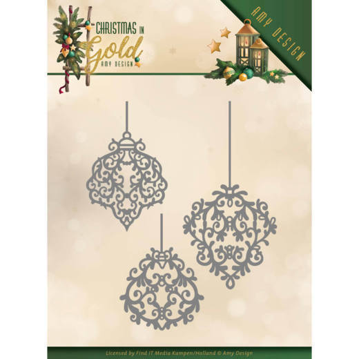 Stansmal Amy Design - Christmas in Gold - Golden Ornaments