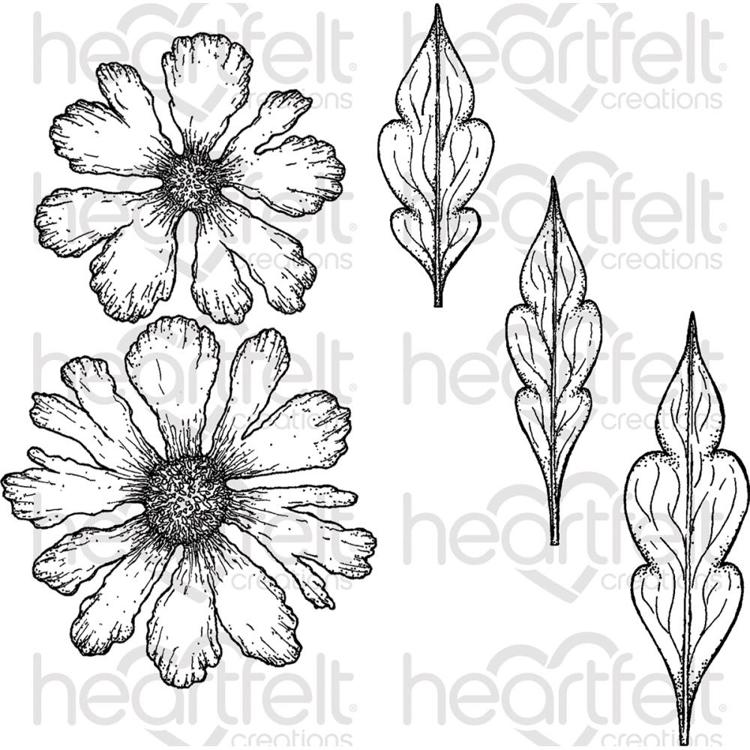 Heartfelt Creations - CLING RUBBER STAMP - Large Sweet Peony