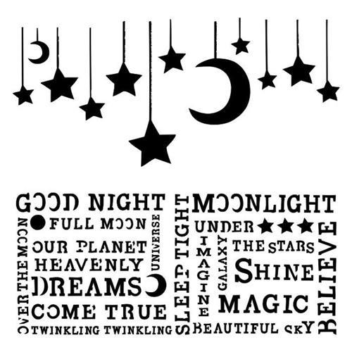 Stencils 13@rts - Under the Stars - Hanging Moon