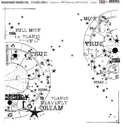13@rts - Transparant foil sheet - Under the Stars / Constellation