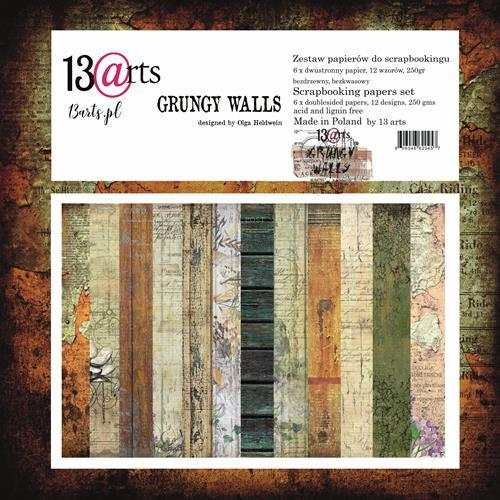 13@rts - Paper Collection Set - Grungy Walls by Olga Heldwein