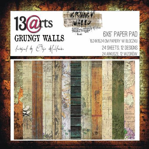 "13@rts - Paperpad 6"" x 6""  - Grungy Walls by Olga Heldwein"