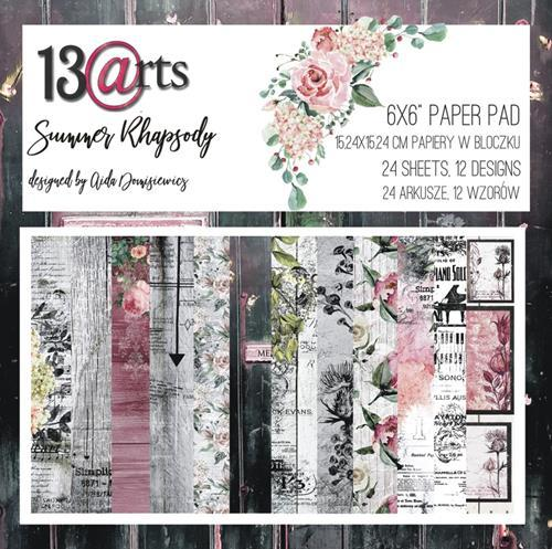 """13@rts - Paperpad 6"""" x 6""""  - Summer Rhapsody by Aida Domisiewicz"""