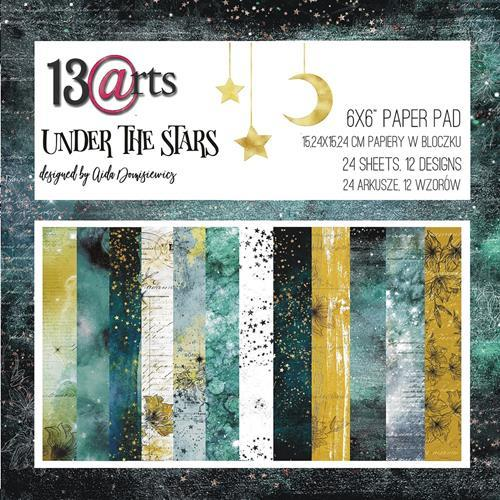 "13@rts - Paperpad 6"" x 6""  - Under the Stars by Aida Domisiewicz"