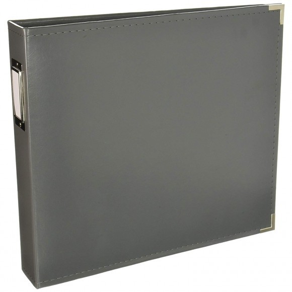 "We R Memory Keepers - Faux Leather Album 12x12"" - Charcoal"