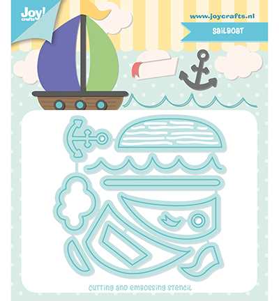 Joy! Crafts - Jocelijne Design - Stansmal Zeilboot