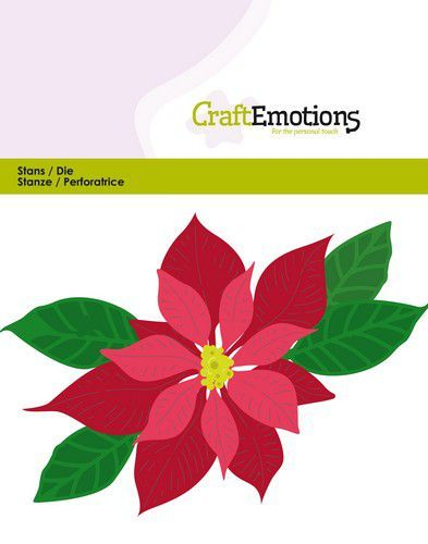 Stansmal CraftEmotions  - Kerstster / Poinsettia
