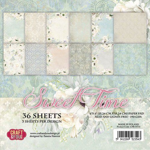 Craft & You Design - Sweet Time - Paperpad 15,2 x 15,2 cm