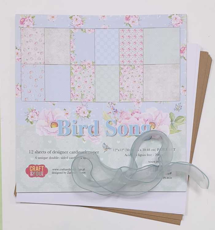 DIY pakket - Flappenalbum Craft & You Design - Birdsong