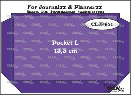 Crealies - Journalzz & Plannerzz - Pocket Large (13,3 cm) + layer up