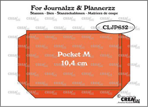 Crealies Journalzz & Plannerz - Pocket Medium (10,4 cm) + layer up