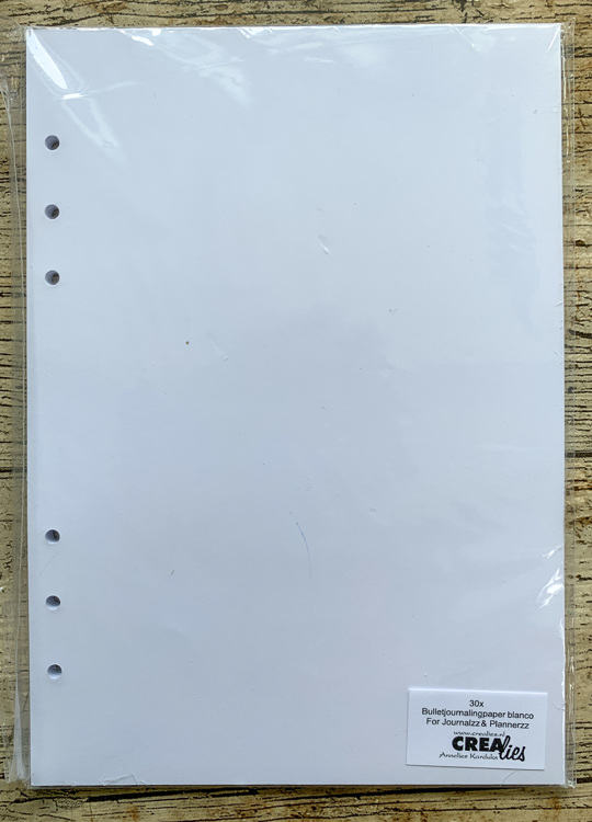 Crealies - Basis - Bullet Journaling Paper Blanco 150 grm (30x) - A5 with 6 holes