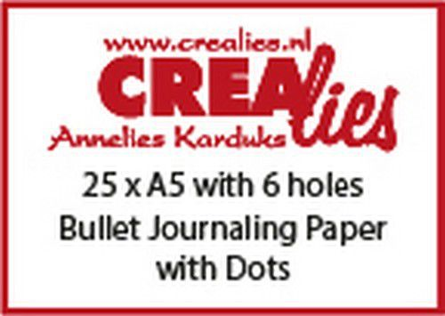 Crealies - Basis - Bullet Journaling Paper dots 150 grm (25x) - A5 6 holes