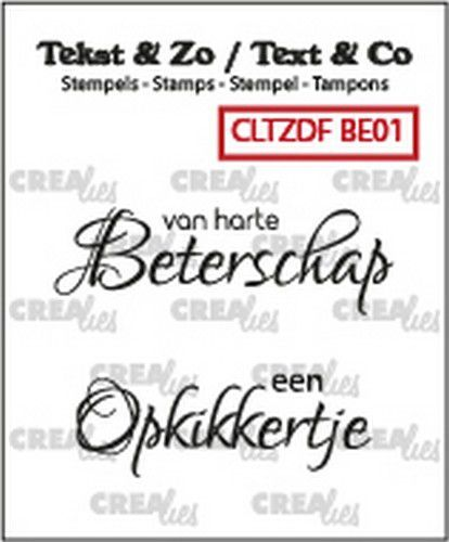 Clearstamp Crealies - Tekst & Zo - Beterschap