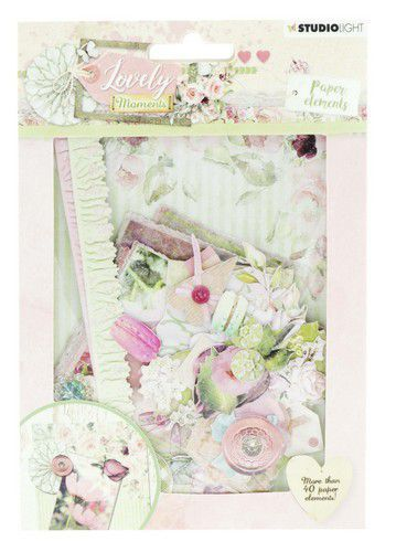 Studio Light - Die Cut Paper Set - Lovely Moments nr 653