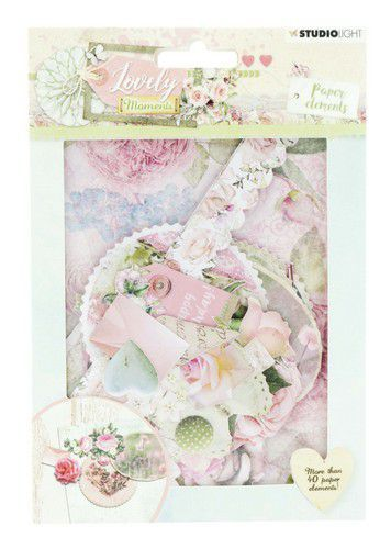 Studio Light - Die Cut Paper Set - Lovely Moments nr 654