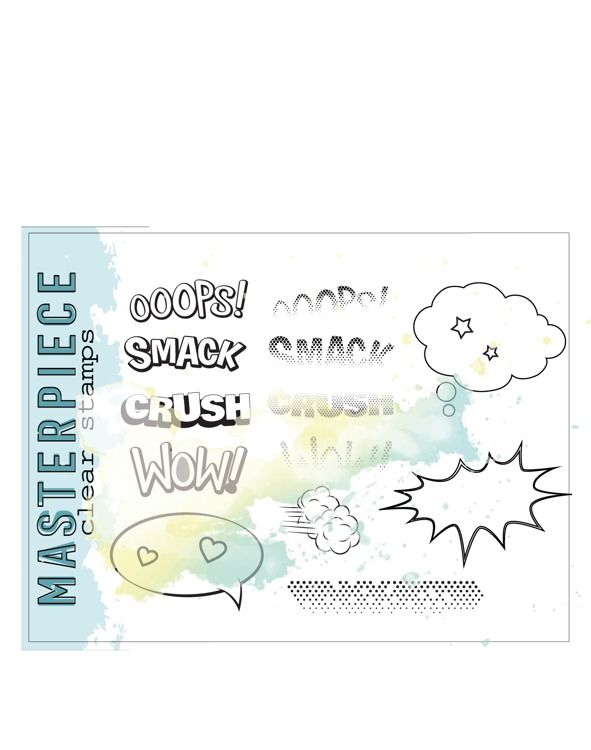 Clearstamp Femke Kokke - Masterpiece - Set A6 #F