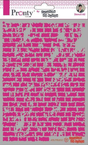 Pronty by Jolanda de Ronde -  Mask stencil A5 - Bricks