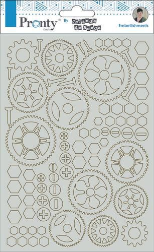 Pronty by Jolanda - Chipboard A5 - Gears
