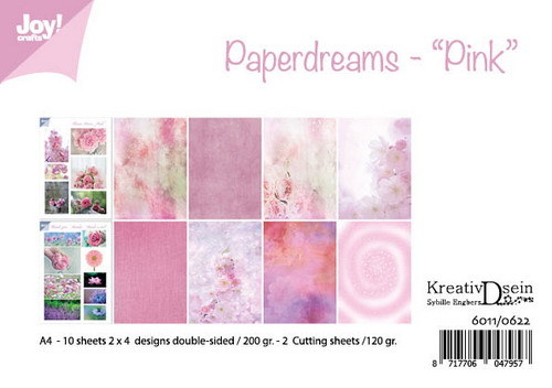 "Joy! Crafts - Paperpad A4 - Bille's Paperdreams ""Pink"""