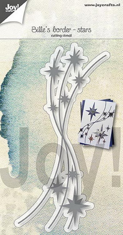 Joy! Crafts - Cutting & Embossing Stencil - Bille's border Sterren