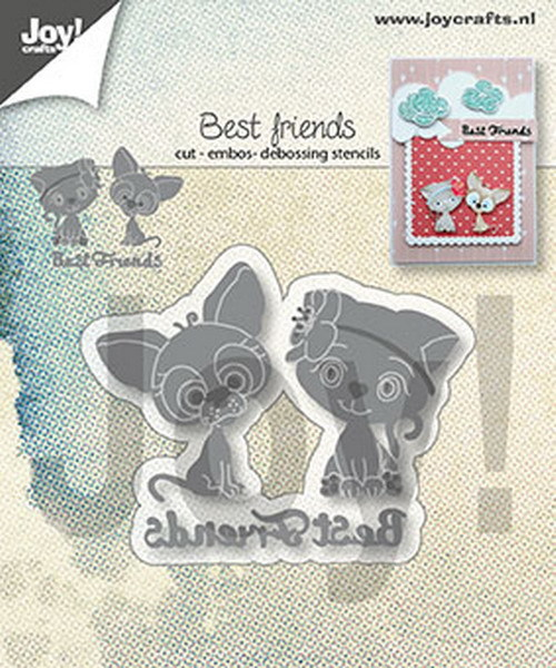 Joy! Crafts - Cutting & Embossing Stencil - Best friends