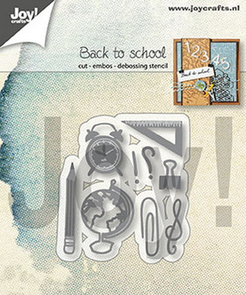 Joy! Crafts - Cutting & Embossing Stencil - Back to school