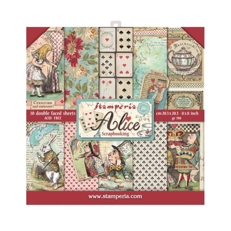 Paperpad  Stamperia - 20,5 x 20,5 cm - Alice
