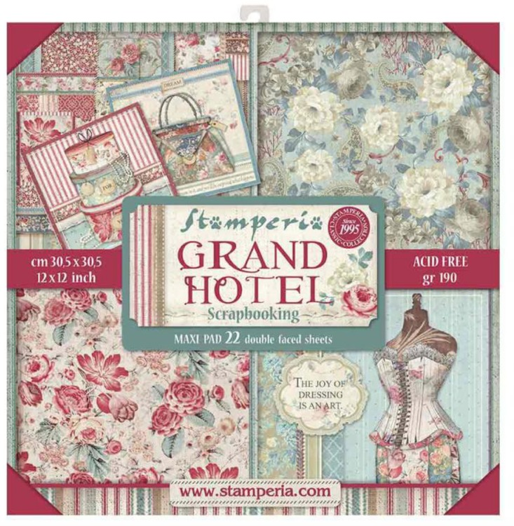Paperpad  Stamperia - 30,5 x 30,5 cm - Grand Hotel DELUXE