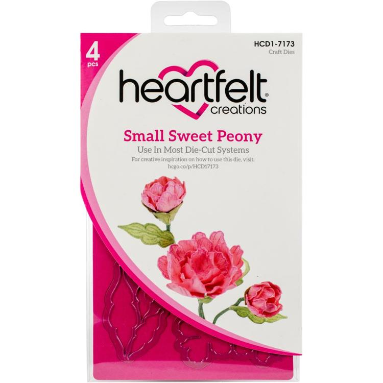 Heartfelt Creations - Cut & Emboss Dies - Small Sweet Peony
