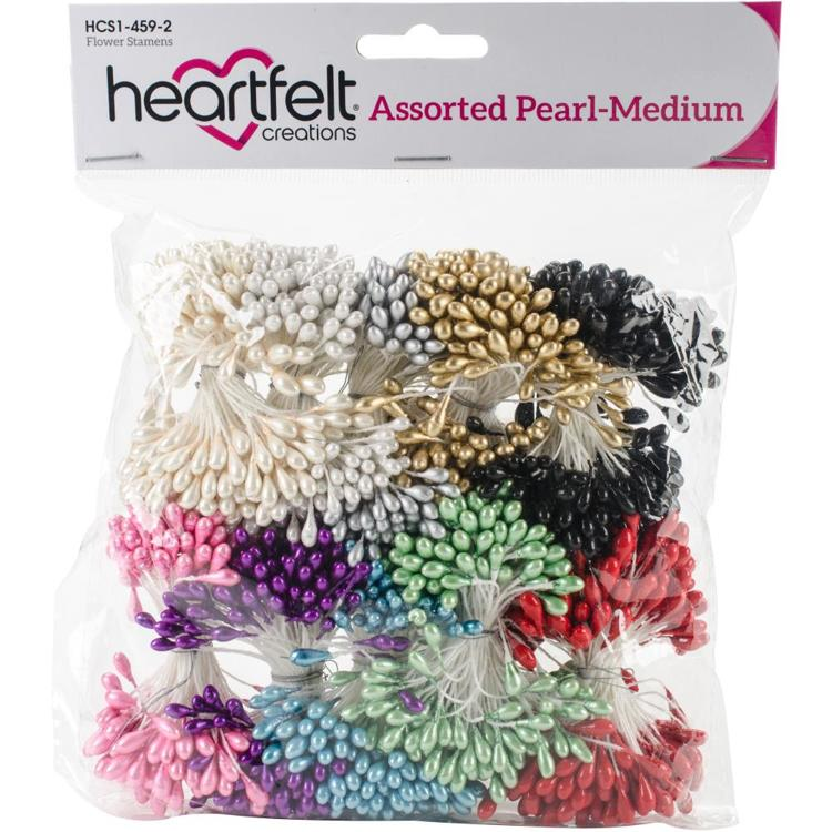 Heartfelt Creations - Pearl Stamens - Medium Assorted 5mm X 2.25""