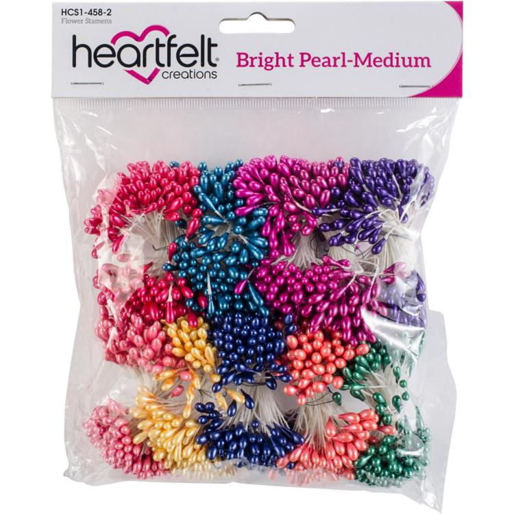 Heartfelt Creations - Pearl Stamens - Medium Bright 5mm X 2.25""
