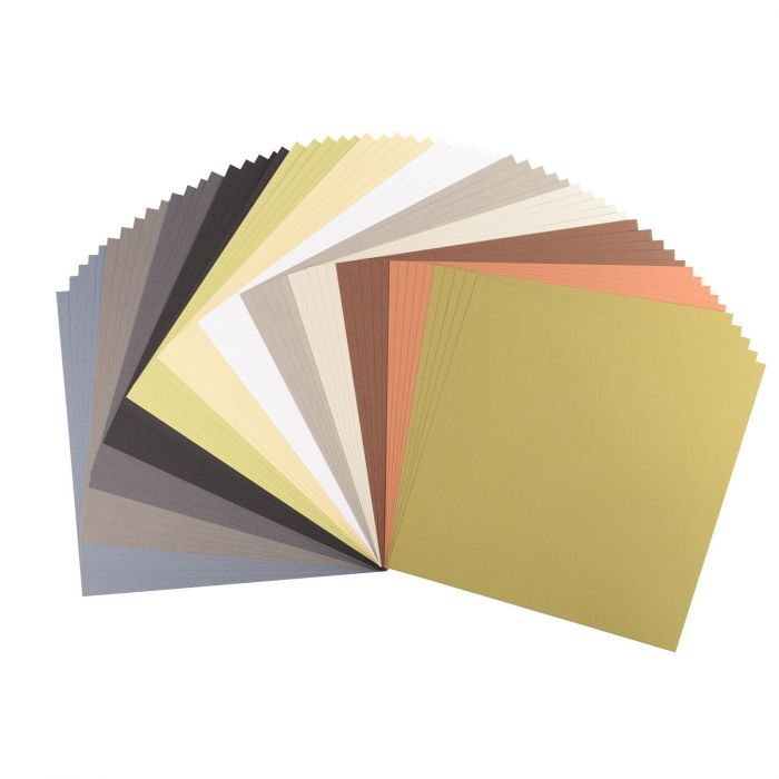 Florence Cardstock - Smooth (glad) 216 gr) - Collection kit Earth Tones (12x5vel)
