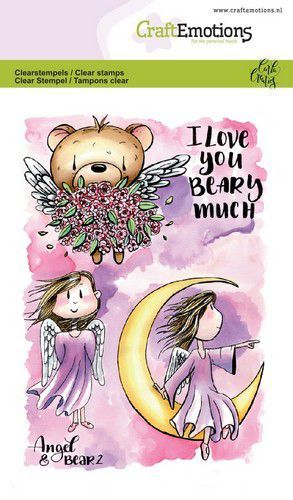 CraftEmotions - Clearstamps A6 - Angel & Bear 2