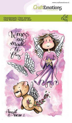 CraftEmotions - Clearstamps A6 - Angel & Bear 1