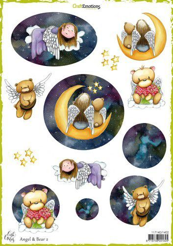 CraftEmotions - Decoupage vellen A4 - Angel & Bear 2