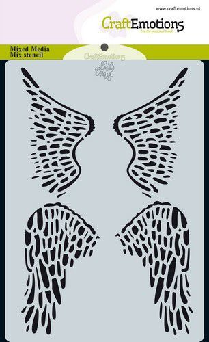 CraftEmotions - Mask stencil - Angel & Bear - Vleugels